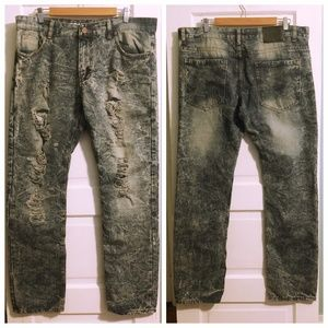 True Rock Distressed Men's Jeans - 36x32